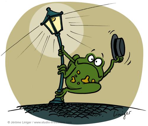 Le crapaud - robert fiess - liniger - révolution-éclairage-publique