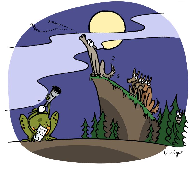 Le crapaud - robert fiess - Liniger-Hurler-avec-les-loups