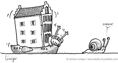 Le crapaud - Jérôme Liniger - L'immobilier flottant, version Pays Bas