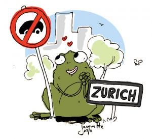Le crapaud - Nicolas Jacquette - A Zurich, guerre totale aux voitures