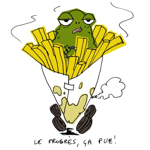 Le crapaud - Nicolas Jacquette - Gaspillage, L'huile de friture qui fait tourner les pistons