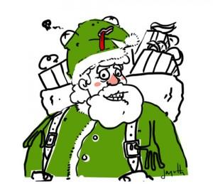 Le crapaud - Nicolas Jacquette - Le Père Noël endosse son manteau écologique