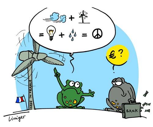 Le crapaud - Jérôme Liniger - Une éolienne inventée par un français qui produit de l'électricité et de l'eau potable