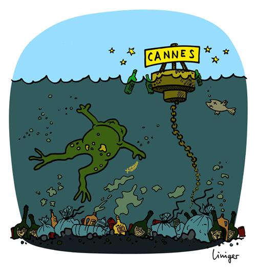 Le crapaud - Jérôme Liniger - Cannes le festival de pollution dans la Méditerranée