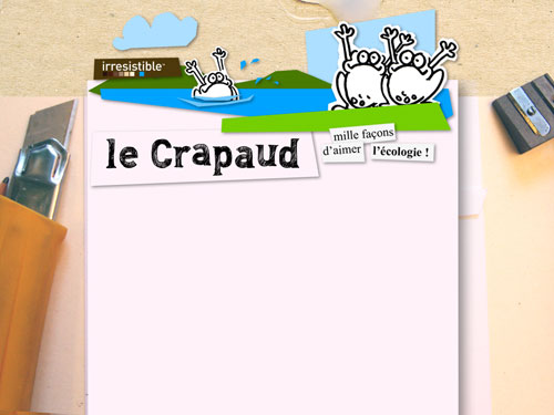 Le crapaud - Jérôme Liniger - Nicolas Jacquette - Nouvelle maquette