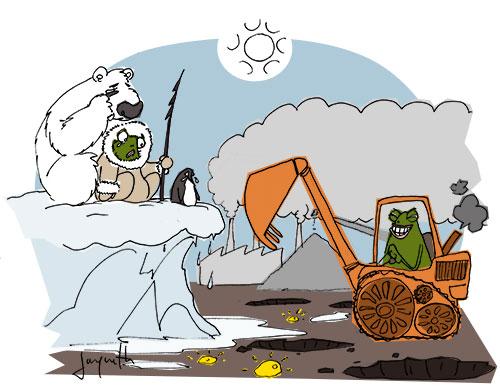 Le crapaud - Nicolas Jacquette - Au groenland, la fonte des glacier découvre de grand gisements de terres rares, d'or et de pétrole