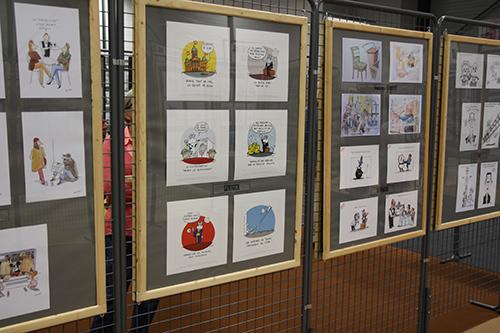 Le crapaud - Jérôme Liniger - festival du dessin de presse de Saint-Just-Le-Martel octobre 2012 - panneau dédié à Liniger dans l'exposition