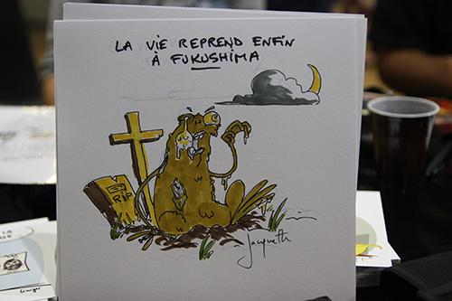 Le crapaud - Nicolas Jacquette - festival du dessin de presse de Saint-Just-Le-Martel octobre 2012 - la vie reprend enfin à Fukushima
