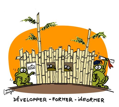 2013 01 31 lecrapaud liniger fiess école bambou Haïti, le bambou pour renaître
