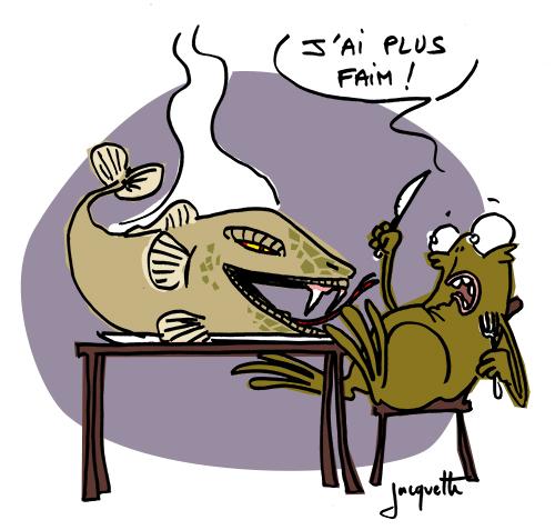 le crapaud - robert fiess - nicolas jacquette - poisson à tête de serpent