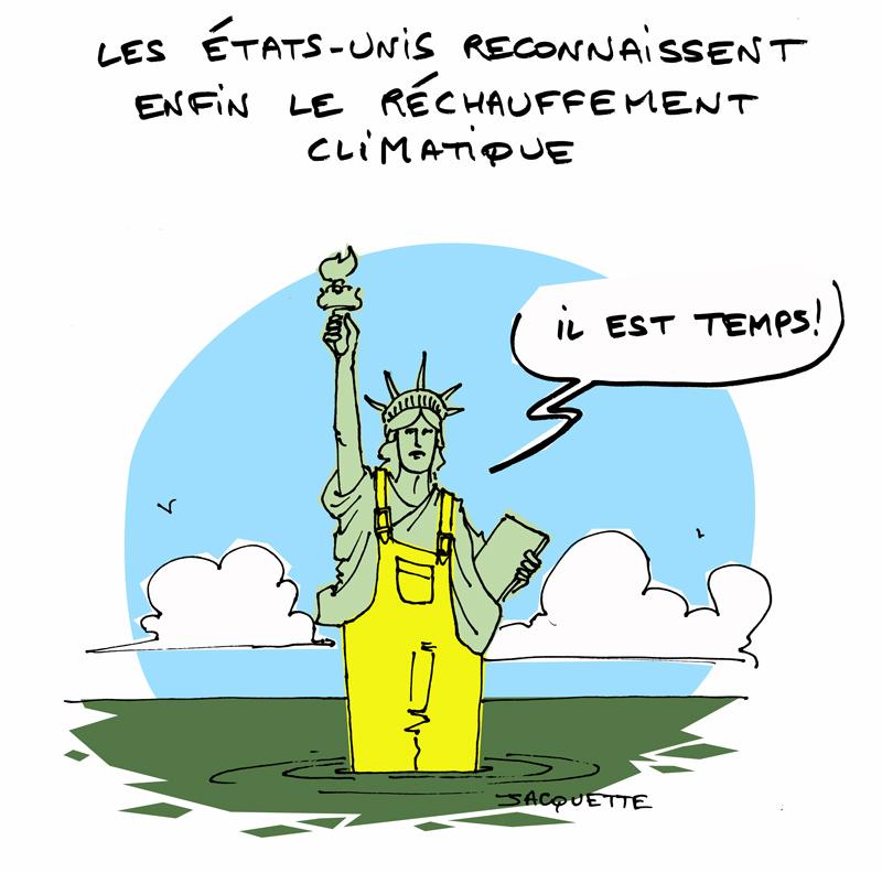 le crapaud - nicolas jacquette - robert fiess - les états unis reconnaissent enfin le réchauffement climatique