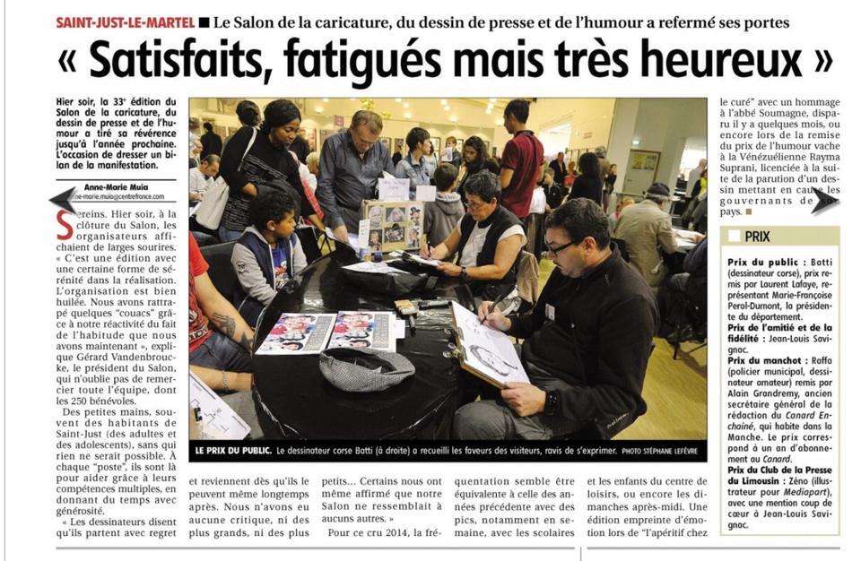 journal le Populaire du centre_Limoges_27-09-2014_04