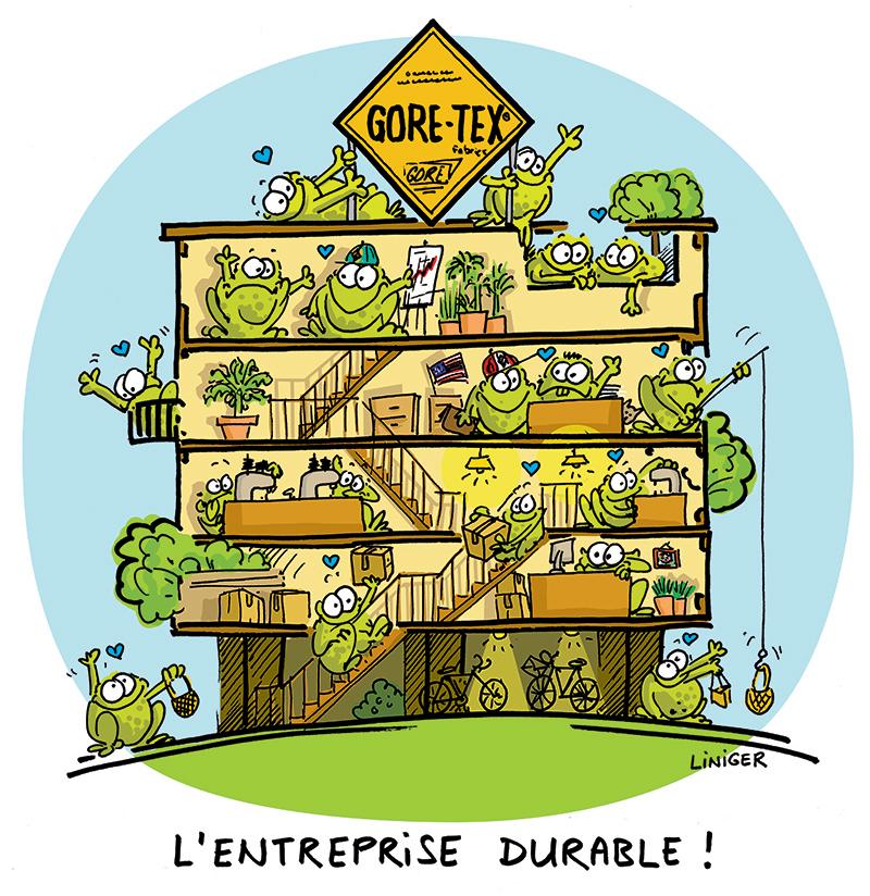 Le Crapaud - Liniger Fiess - GoreTex entreprise durable