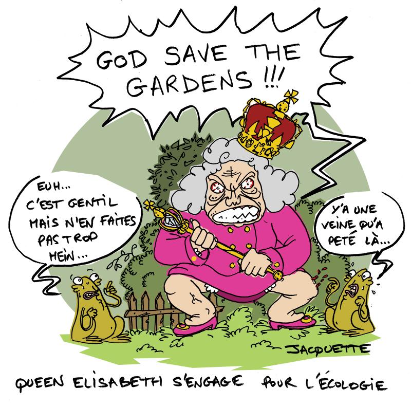 le crapaud - robert fiess - nicolas jacquette - jardins anglais menacés reine elisabeth s'engage