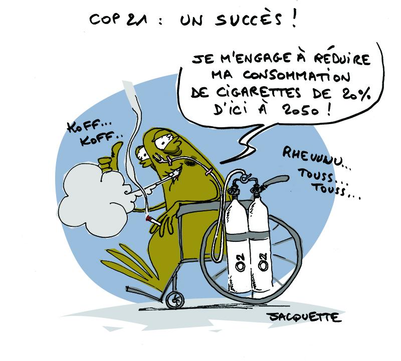 Le Crapaud Nicoloas Jacquette - Robert Fiess _ COP21 succès échec