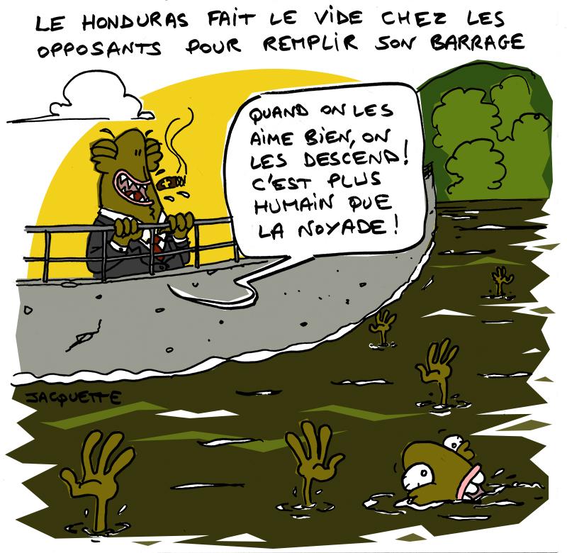 le-crapaud - nicolas Jacquette - robert fiess - barrage honduras - assasinat de berta caceres