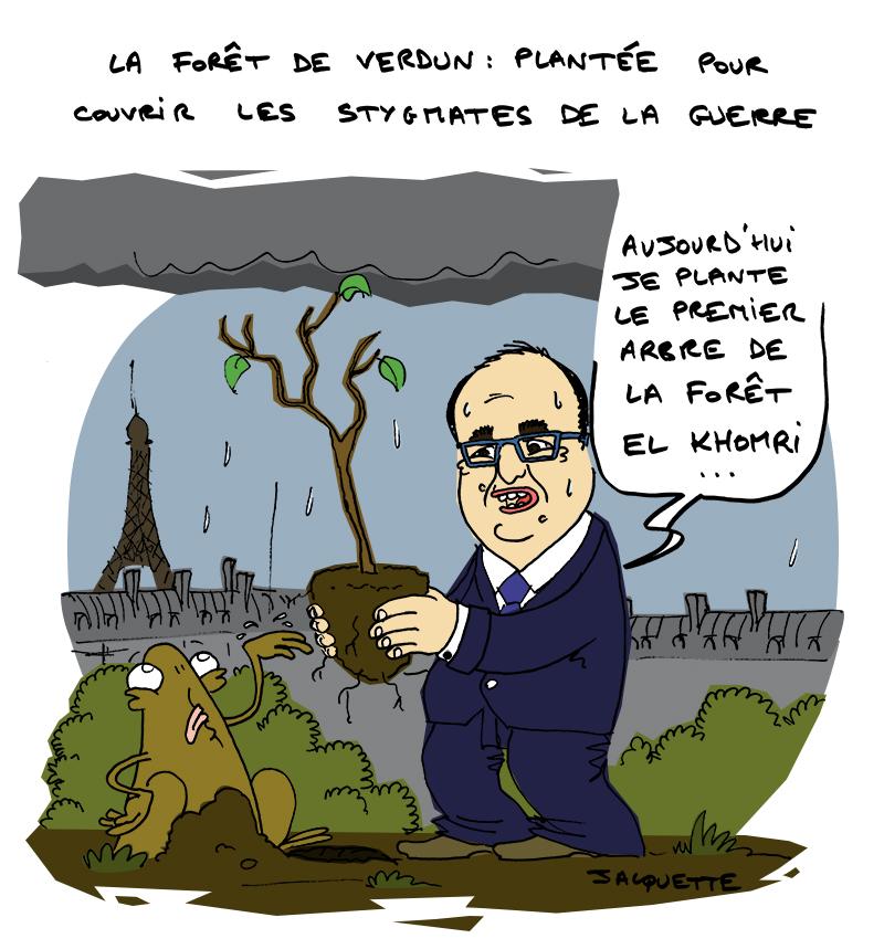 Le Crapaud - Robert Fiess - Nicolas Jacquette - La forêt de Verdun donne des idées à François Hollande pour la loi El Khomri
